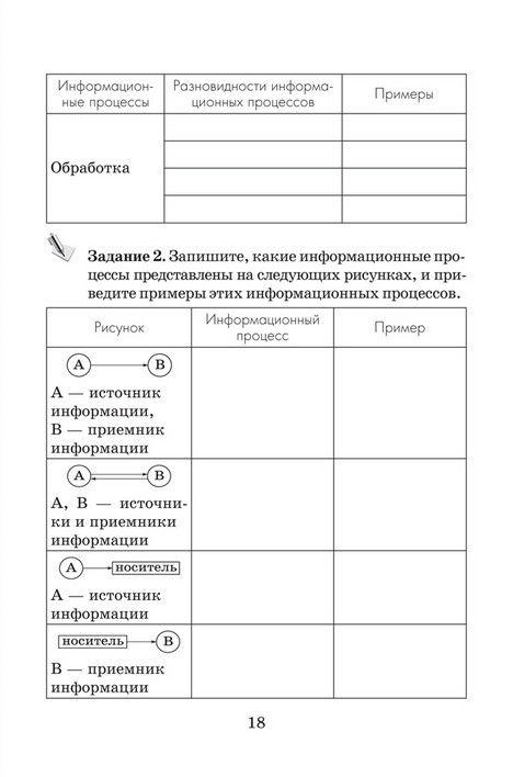 Информатике класс овчинникова ответы решебник тетрадь по 6