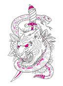 Авторская тату-раскраска — фото, картинка — 10