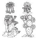 Cactus party. Раскраска-оазис для творчества и вдохновения — фото, картинка — 1