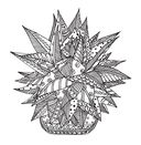 Cactus party. Раскраска-оазис для творчества и вдохновения — фото, картинка — 3