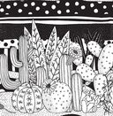 Cactus party. Раскраска-оазис для творчества и вдохновения — фото, картинка — 5