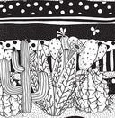 Cactus party. Раскраска-оазис для творчества и вдохновения — фото, картинка — 6