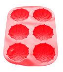 Форма силиконовая для выпекания кексов (275x180x30 мм; красная) — фото, картинка — 1