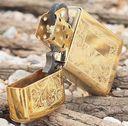 Зажигалка Zippo 1652 B. Venetian Slim. High Polish Brass — фото, картинка — 1