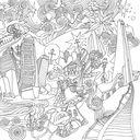 Магия городов. Медитативная раскраска для взрослых — фото, картинка — 4
