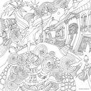 Магия городов. Медитативная раскраска для взрослых — фото, картинка — 9