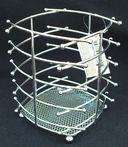 Подставка для столовых приборов металлическая (140х140х160 мм) — фото, картинка — 1